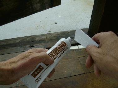 木工用の水性パテです