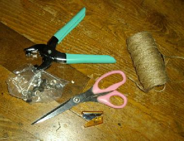 修理に使った道具類。